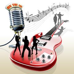 E-Gitarre mit Mikrofon Band © i-picture