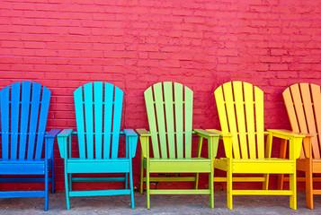 Bunte Stühle in Reno in Nevada
