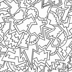 monochrome funny geometric seamless pattern