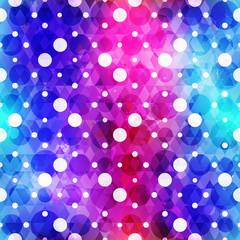 spectrum circle seamless pattern with grunge effect