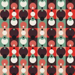 vintage circle seamless pattern