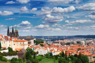 view of  Prague from Hradcany district