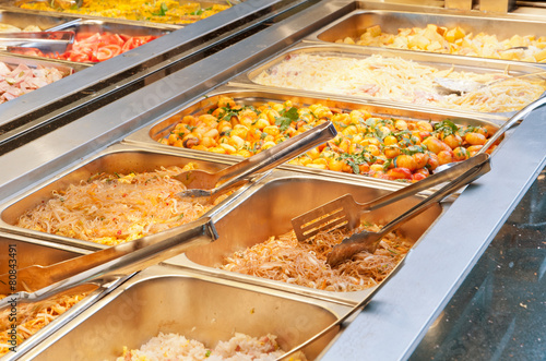 Naklejka Buffet gastronomico al ristorante cinese