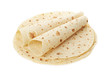 Piadina, italian tortilla heap with wraps, clipping path - 80844048