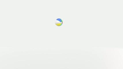 Bouncing beach ball.