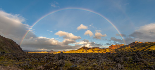 Rainbow over Landmannalaugar, Iceland