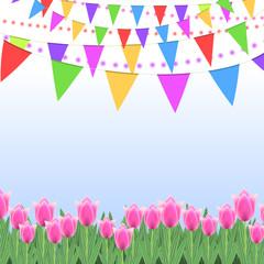 Spring celebration background design