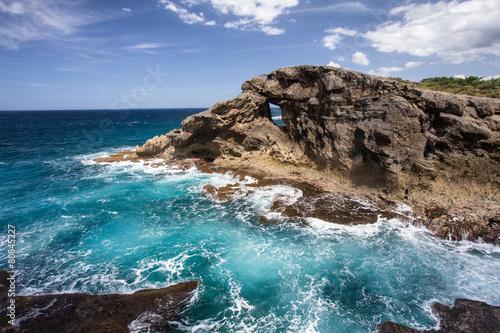 Fotobehang Caraïben Rocky Coast of Puerto Rico