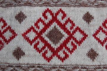 Red woolen pattern