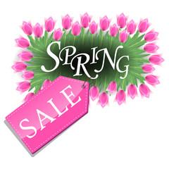Spring sale pink tulips design