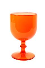 oranger Glaskelch