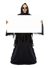 Grim Reaper with an empty billboard