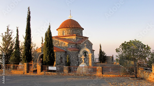 Stavrovouni monastery chapel in the mountains of Cyprus - 80847849
