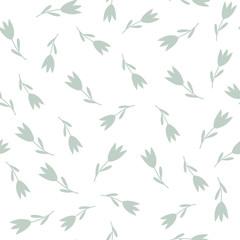 Tulip seamless pattern