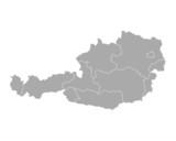 Karte von Österreich - 80849001