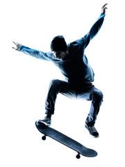 man skateboarder skateboarding silhouette © snaptitude