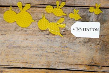 Bienenwachs, Bienen, Einladung, Invitation