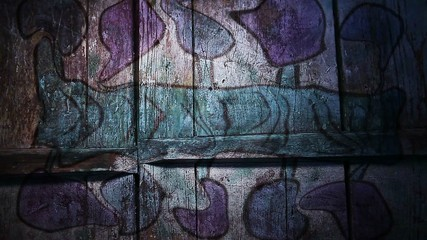 Video motion   graffiti  Ancient Egypt blue pattern ornament