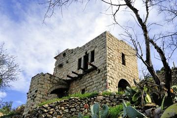 Old ruins of Lifta village.