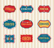 Vintage Circus labels set - 80852465