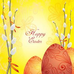 Easter greetings card, vector