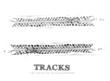 Tire tracks background - 80853474