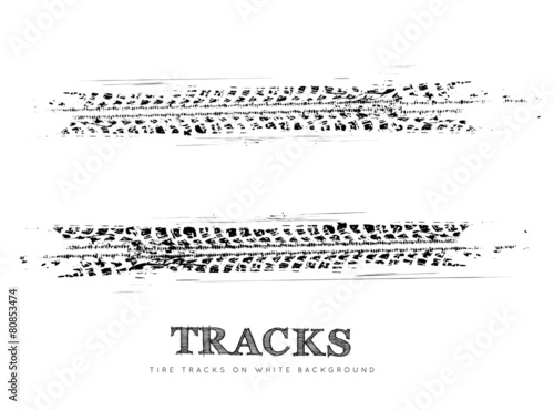 Tire tracks background - 80853474