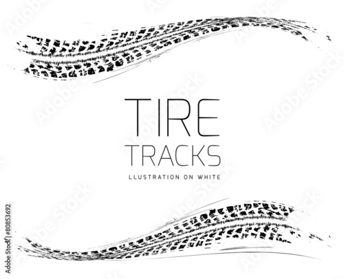 Tire tracks background - 80853692
