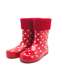 red boots on white