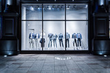 fashion shop display window and clothes. - 80854032