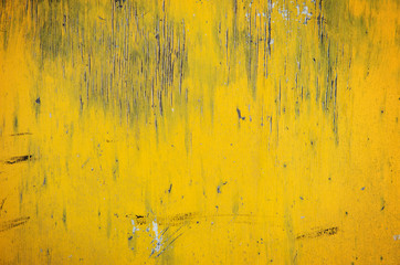 Old yellow wooden background