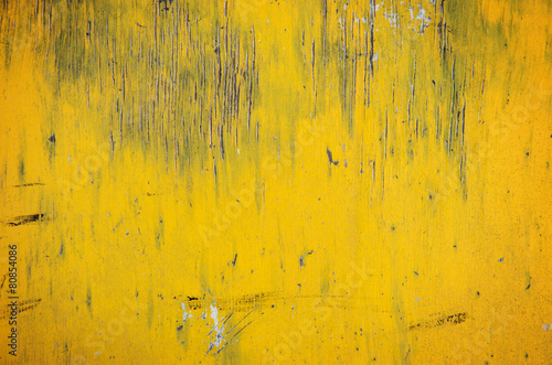 Fotobehang Hout Old yellow wooden background