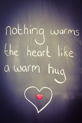 Nothing warms the heart like a warm hug