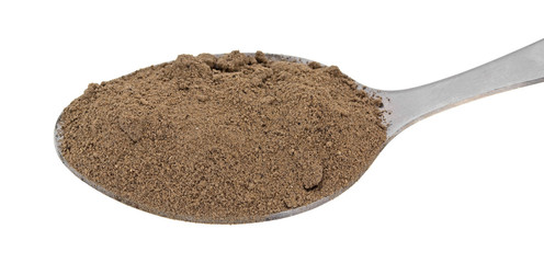Comfrey Root Powder In A Spoon