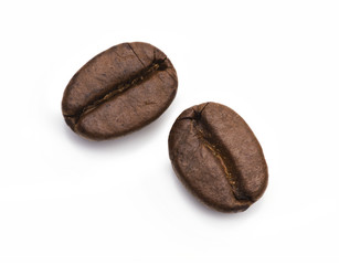 Zwei Kaffebohnen