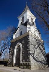 High steeple of a church