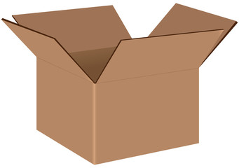 Industrial cardboard box
