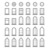 Different types of windows. Eps10 - 80856261