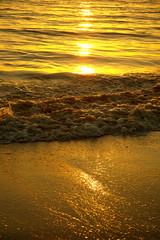 Atardecer playa de Huelva