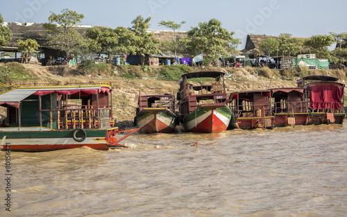 Foto op Plexiglas Indonesië Cambodia, a village on the Mekong river