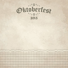 vintage background with checkered pattern for Oktoberfest 2015