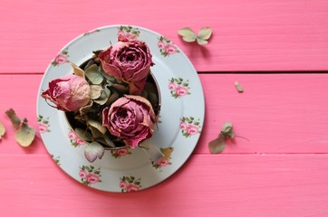 Shabby Chic Cupof Roses