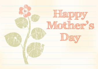 mothers day background, vintage illustration