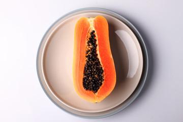 papaya on plate