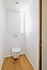 Toilet in newly converted house