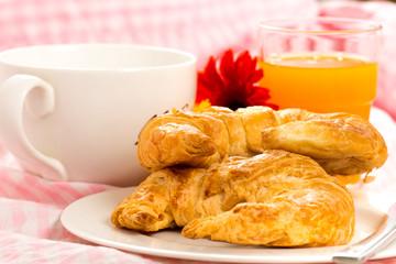 Croissant Croissant on wood table
