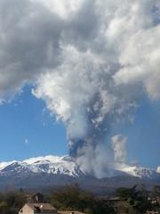 Esplosione Cenere Vulcano Etna