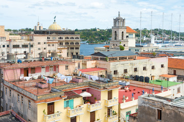 Old Havana with well known landmarks