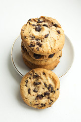 Biscuit cookies with chocolate chips