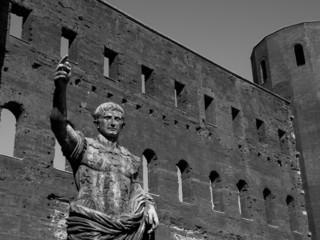 Caesar Augustus statue in Turin